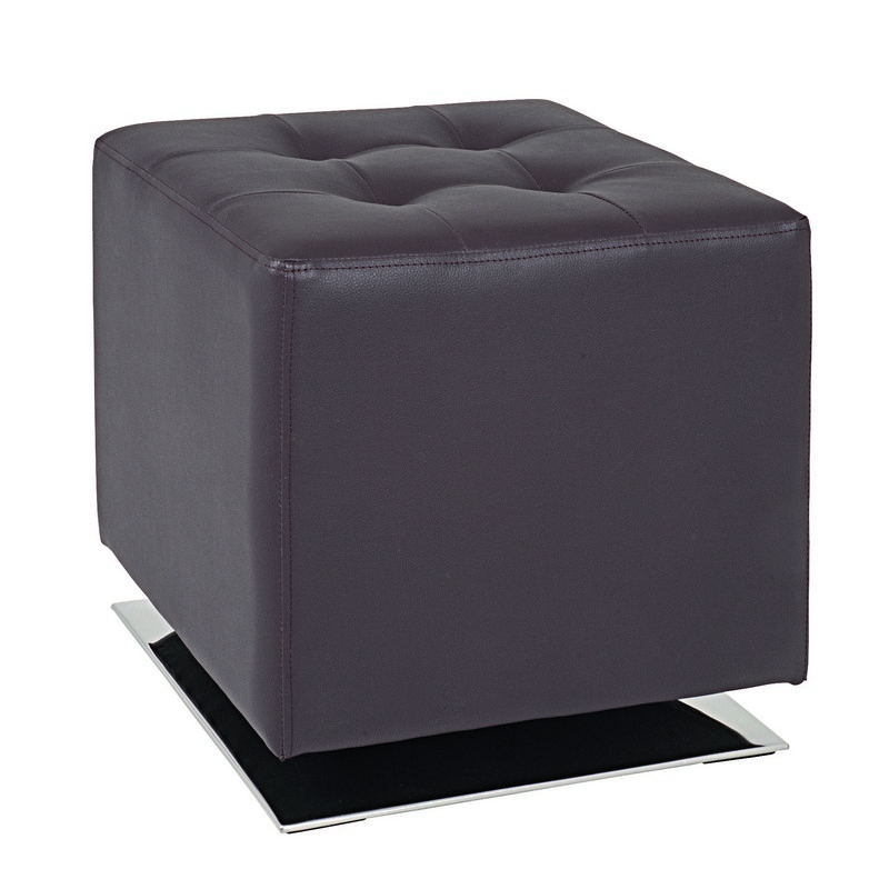 Beto Brown Faux Leather Stool 30888