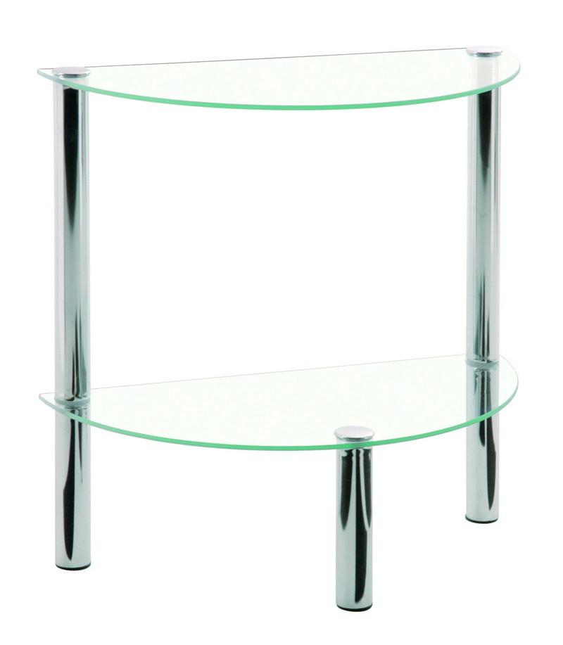 Emden Clear Glass U0026 Chrome Occasional Table (90241)