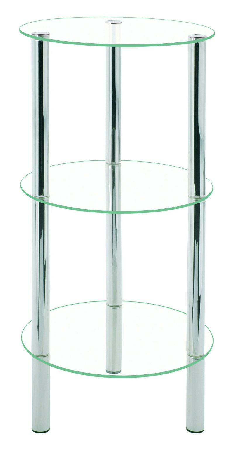 Emden Clear Glass Amp Chrome Tall Display Stand 90240
