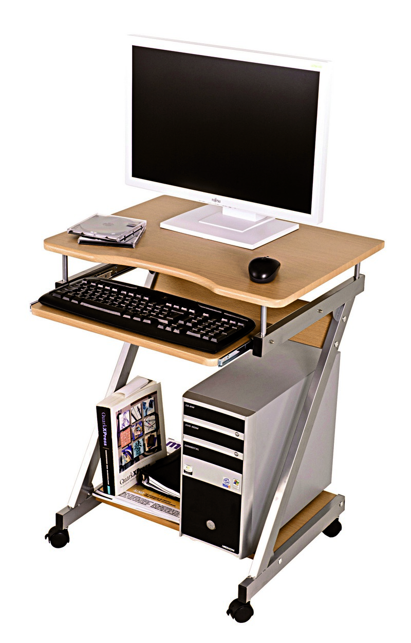 Server Beech Computer Desk Trolley 91756