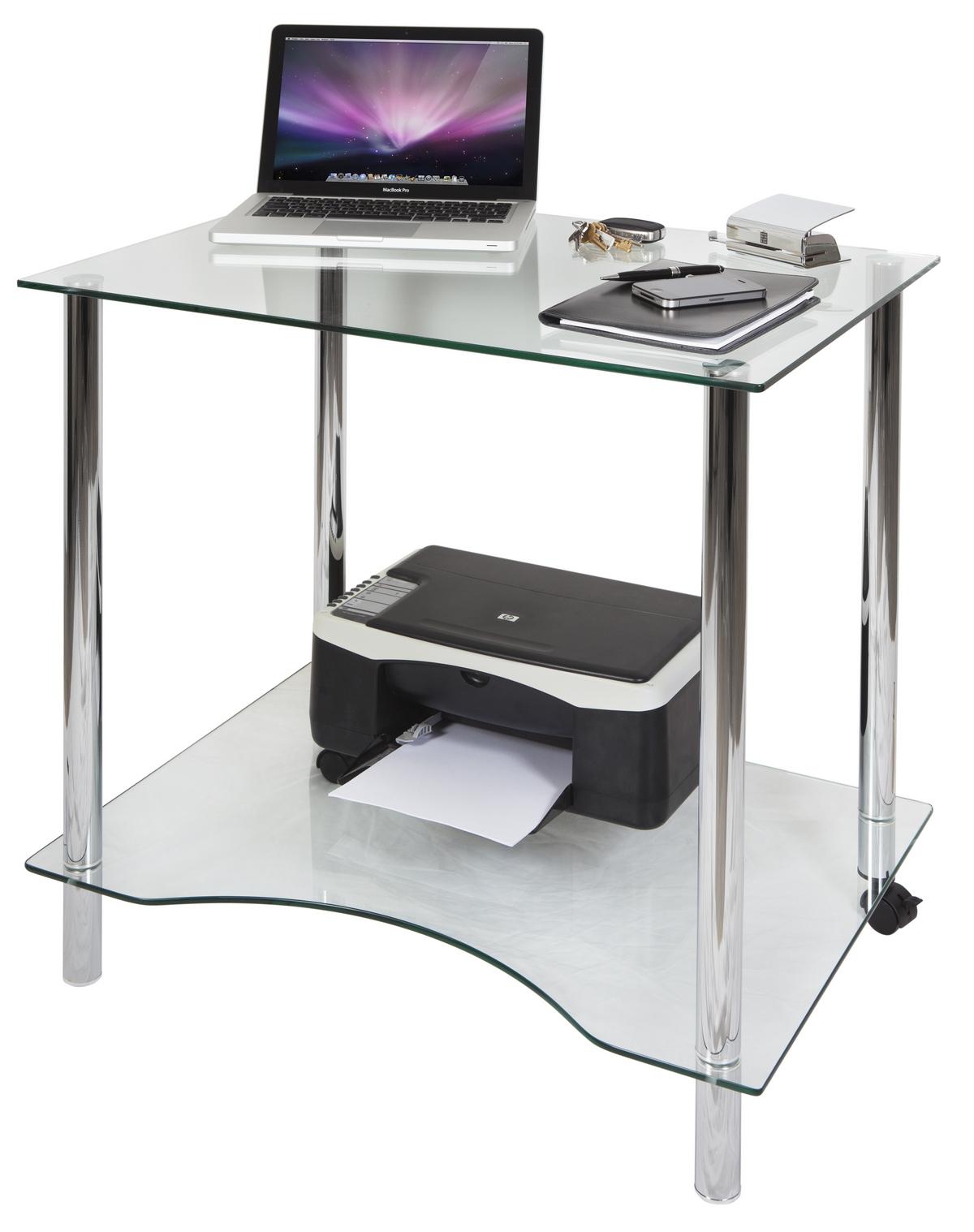Crystal Glass Computer Desk