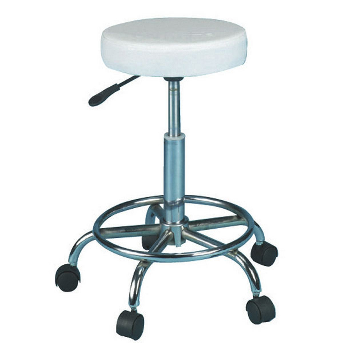 Skinmate White Compact Stool