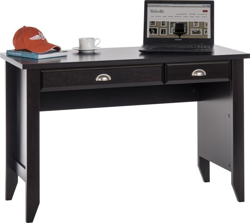 scribed oak effect home teknik jamocha wood laptop desk office desks