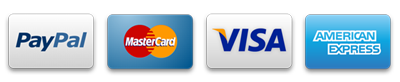 We accept PayPal, MasterCard, VISA and Americal Express