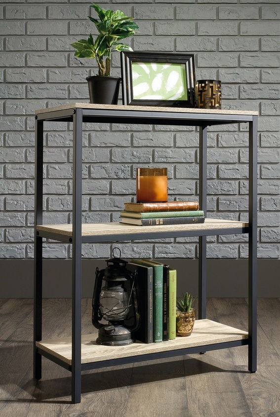 office shelf. Industrial Style 3 Shelf Bookcase Office