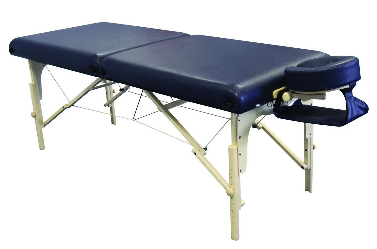 PORTABLE LIGHTWEIGHT WOODEN MASSAGE TABLE ADJUSTABLE BENCH ... |Massage Table