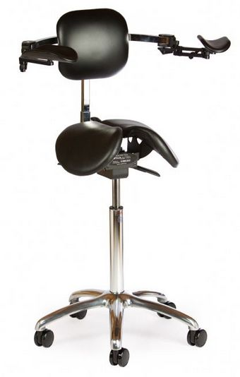 Salli Ergonomic Dentist Stool With Moving Armrests